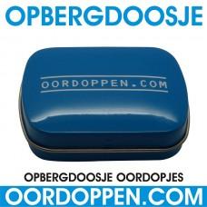 Opbergdoosje Blauw Oordoppen-com
