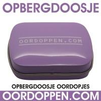 Opbergdoosje Lila Oordoppen-com