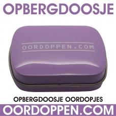 Opbergdoosje Lila Oordoppen-com (out of stock)