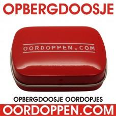 Opbergdoosje Rood Oordoppen-com