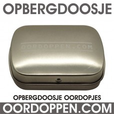 Opbergdoosje Zilver Oordoppen-com (uitverkocht)