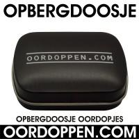 Opbergdoosje Zwart Oordoppen-com
