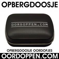 Opbergdoosje Zwart Oordoppen-com (uitverkocht)