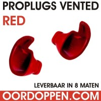 1 setje Proplugs vented XL Rood