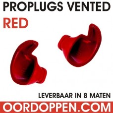 Losse Proplugs vented | Rood