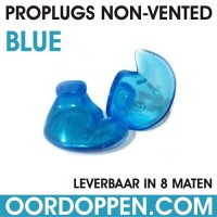 1 setje | Proplugs non-vented XL - Blauw