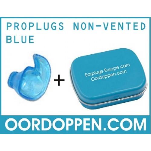 proplugs non-vented blauw oordopjes tegen lawaai | oordoppen slapen