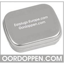 Opbergdoosje Zilver Oordoppen-com