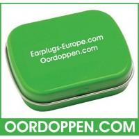 Opbergdoosje Groen Oordoppen-com