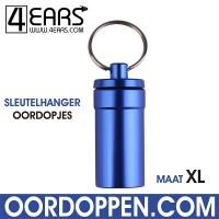 4EARS Sleutelhanger Oordoppen maat XL - Blauw