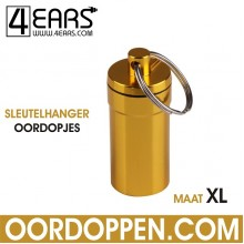 4EARS Sleutelhanger Oordoppen maat XL - Goud