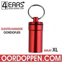 4EARS Sleutelhanger Oordoppen maat XL - Rood