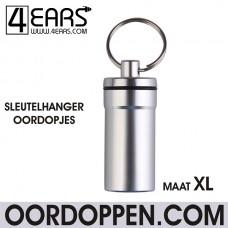 4EARS Sleutelhanger Oordoppen maat XL - Zilver