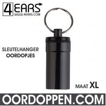 4EARS Sleutelhanger Oordoppen maat XL - Zwart