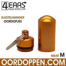 4EARS Sleutelhanger Oordopjes maat M - Goud