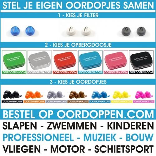 8e5951c1e14 Oordoppen.com Custompack   Stel je eigen Oordopjes samen   4 maten ...