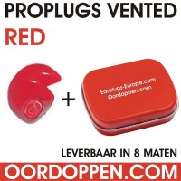 Proplugs vented / Rood