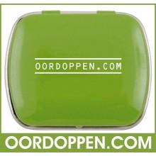 Opbergdoosje Groen Klein Oordoppen-com