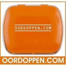 Opbergdoosje Oranje Klein Oordoppen-com